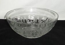 "Very Rare*UNLISTED*Jeannette IRIS CRYSTAL *8"" DEEP SALAD BOWL*ONE OF A KIND**"