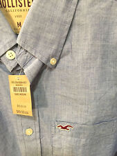 HOLLISTER by Abercrombie mens blue M NWT muscle-fit button-down shirt was $49.50