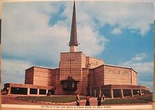 Irish Postcard CHURCH OF OUR LADY QUEEN OF IRELAND Knock Mayo Virgin Mary 1970s