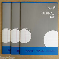 NEW - 3 x A4 BOOK KEEPING JOURNAL - Silvine Accounts Cash Ledger - 3 BOOKS