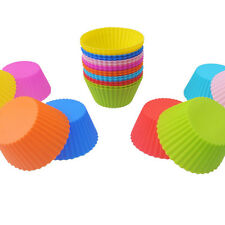 6pcs Round Soft Silicone Cake Muffin Chocolate Cupcake Liner Baking Cup Mold HU