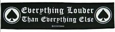 Motörhead-PATCH RICAMATE Louder SUPER STRIP 20x5cm