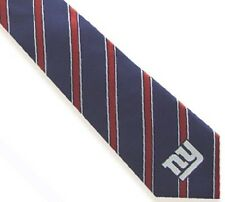 NFL New York Giants Striped Woven Polyester Neck Tie
