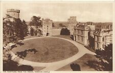 Warwickshire Postcard - The Courtyard from The Mound - Warwick Castle  2736