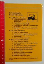 Aufkleber/Sticker: 4 x 4 Merkregeln für den Fahrbetrieb (100816164)