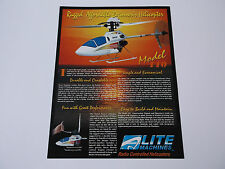 VINTAGE ELITE MACHINES MODEL 110 R/C MODEL HELICOPTER BROCHURE  4 PAGE *EX-COND*