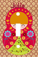 PERSONALIZED RUSSIAN NESTING MATRYOSHKA DOLL LIGHT SWITCH PLATE COVER