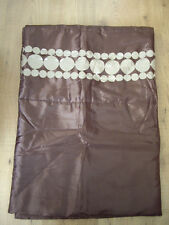 NEXT BROWN SATIN QUILTED BED RUNNER WITH 60s RETRO BEIGE CIRCLE DESIGN