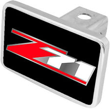 New Chevrolet Z71 Red/Mirrored/White Logo Hitch Cover Plug