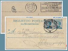 53296 - REGNO -  INTERO POSTALE con ANNULLO MECCANICO: SAN SIRO Milano 1924