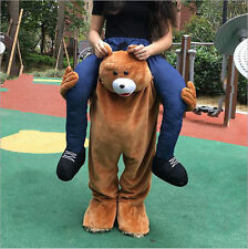Carry Me Piggy Back Ride On Novelty Teddy Bear Mascot New Fancy Dress Costume