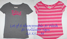Lot of 8 Women's Abercrombie & Fitch & Hollister Shirts Tops Sz XS - M **