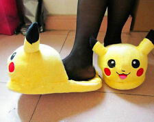 "Nintendo Pokemon Character Pikachu Plush Soft Slippers Toy for Children 8.5"" NWT"