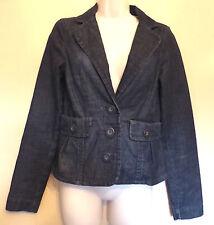 White Stuff UK8 EU36 US4 unlined blue denim long-sleeved jacket