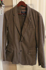 American Eagle Mens Brown Herringbone Cotton Blend Sportcoat SMALL