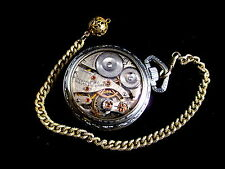BEAUTIFUL # ANTIQUE #  WALTHAM - 16 sz 21 j  DISPLAY SALESMAN CASE POCKET WATCH