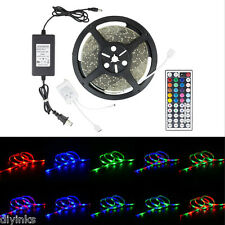 2PK Waterproof 5M LED SMD 3528 Rope Strip RGB with Remote and Power Supply