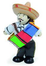 PANCHO THE MEXICAN BUDKIN by LE TOY VAN BUDKINS BK948 - COWBOY WORLD RANGE