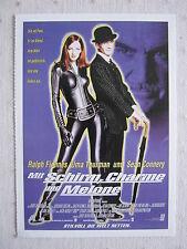 Filmplakatkarte cinema  Mit Schirm,Charme und Melone  Uma Thurman,R.Fiennes