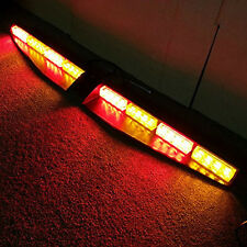 32 LED Car Emergency Warning Strobe Visor Mount Deck Dash Light Bar Red & Amber