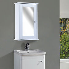 HOMCOM Wall Mounted Mirror Medicine Cabinet Storage Cupboard Shelf Bathroom NEW