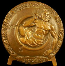 Médaille Diogène de Sinope le cynique philosophe Grec Je Cherche un homme medal