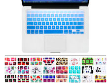Big Font Gradient Sky Blue Keyboard Silicone Cover Skin for Macbook Pro 13 15 17