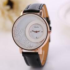 Woman Watch Leather Quicksand Rhinestone Quartz Bracelet Wristwatch Watch Watch