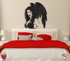 Wall Stickers Girl Angel Woman with Wings Modern Decor for Bedroom z1303