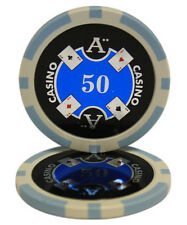 50pcs Ace Casino Laser Clay Poker Chips $50