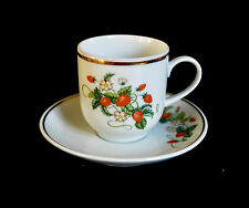 VINTAGE PORCELAIN COFFEE CUP AND SAUSCER SET MADE IN BRAZIL