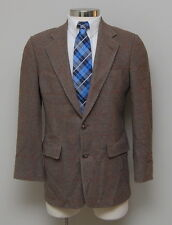 Vintage Mens 38S Brooks Brothers Brown/Grey Houndstooth Check Camel Hair Blazer