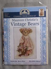 Vintage Bears Billyanna cross stitch by Maureen christie 20 x 30cm 16ct Aida