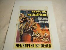 Man from UNCLE Vintage Original Belgian Helicopter Spies Movie Poster VF Rare