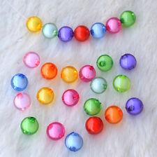 100X Mischfarben Runde Acryl-Perlen crafts/Kinderschmuck dekorativen 8mm