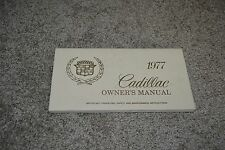 1977 Cadillac DeVile Fleetwood Brougham Limo Eldorado Commercial owners manual