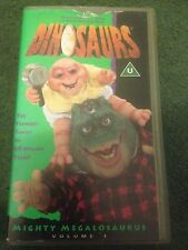 DINOSAURS VIDEO VHS MIGHTY MEGALOSAURUS RARE TV  CARTOON
