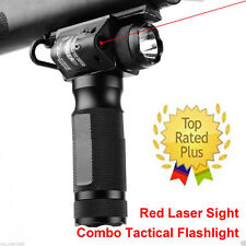 Vertical Foregrip/Tactical CREE Flashlight/Red Laser Sight Pica Rail For Rifle