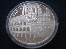"MDS LIBERIA 20 DOLLARS 2000 PP / PROOF ""ROMA"", SILBER #30"