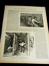 In-depth Article NY TELEPHONE Cortlandt Street SWITCHBOARD 1891 w Illustrations