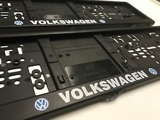 Volkswagen Number Plate Surrounds x2 Frames Holders Euro Style German GTi SDI R