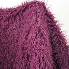 Purple, Mongolian Curly Sheep Faux Fur Fabric,newborn photography props. BTY