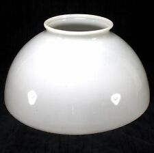 Antique Victorian 14 Inch Lamp Shade White Milk Glass Hanging Parlor Oil Lamp