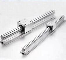 2X SBR12-800mm 12MM FULLY SUPPORTED LINEAR RAIL SHAFT ROD + 4 SBR12UU Block