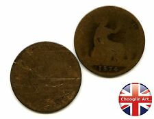 A Pair of British Bronze 1874 VICTORIA PENNY Coins             (Ref:1874_118/19)