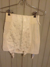 Vintage white Best Form open Bottom girdle w/ garters & side zipper size 28