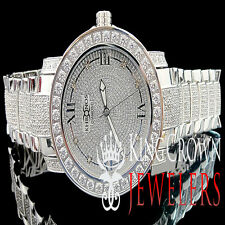 Mens Custom Khronos Diamond Gold Finish Full Iced Out Band Stainless Steel Watch