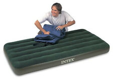 NEW Intex Prestige Downy Twin Inflatable Mattress Air Bed Airbed + Pump Camping