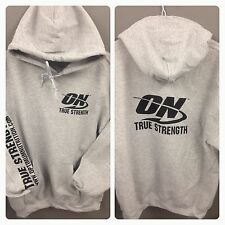 OPTIMUM NUTRITION GOLD STANDARD GREY HEAVY WEIGHT HOODIE ALL SIZES
