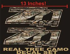 Z71 4x4 Decals (Set) REAL TREE CAMOUFLAGE for Chevrolet Silverado CAMO CHEVY